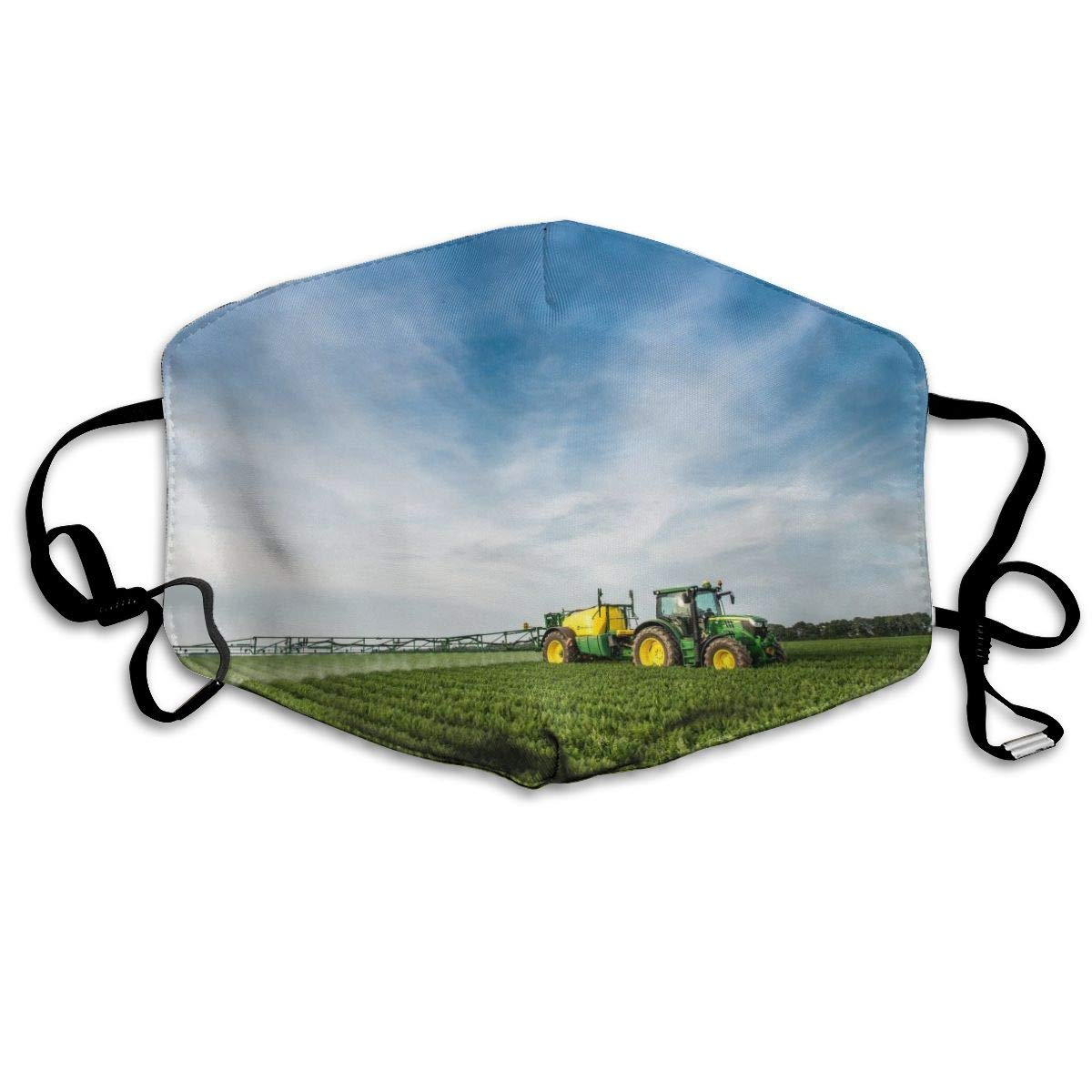 Mouth Mask Tractor Farm Print Masks - Breathable Adjustable Windproof Mouth-Muffle, Camping Running For Women And Men