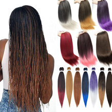 Плетеные волосы kong & li предварительно растягивающиеся оптовая