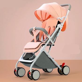 цена Portable baby stroller can sit reclining baby child stroller ultra light umbrella cart folding simple stroller 6 free gifts онлайн в 2017 году