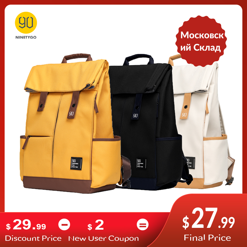 NINETYGO 90Fun College Teenager Laptop Backpack Fashion Leisure Waterproof Bagpack Unisex Casual Computer School Bag 15.6 inch(China)