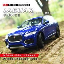 welly 1:24 Jaguar F-PACE  car alloy car model simulation car decoration collection gift toy Die casting model boy toy все цены