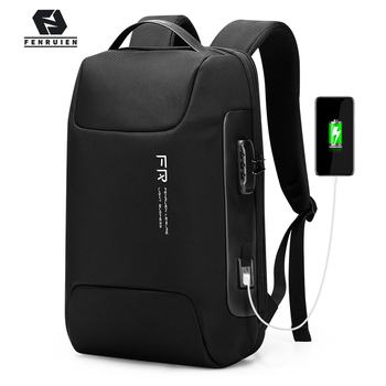 Fenruien Waterproof 15.6 Inch Men Laptop Backpack Usb Charging School Bag Anti Theft Backpack Male Travel Backpacks 2020 New dide usb charging anti theft leather school backpack bag for teenager fashion male waterproof travel laptop backpack men