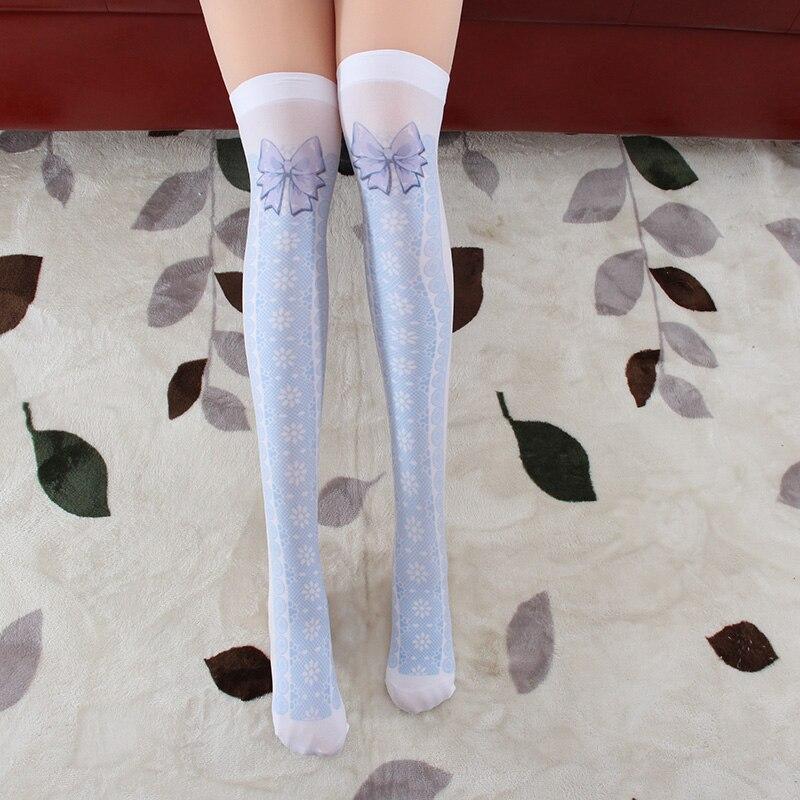 Princess Sweet Lolita Stockings Original Princess Butterfly Knot Stockings Japanese Over Knee Thigh Velvet Pantyhose GZWY019