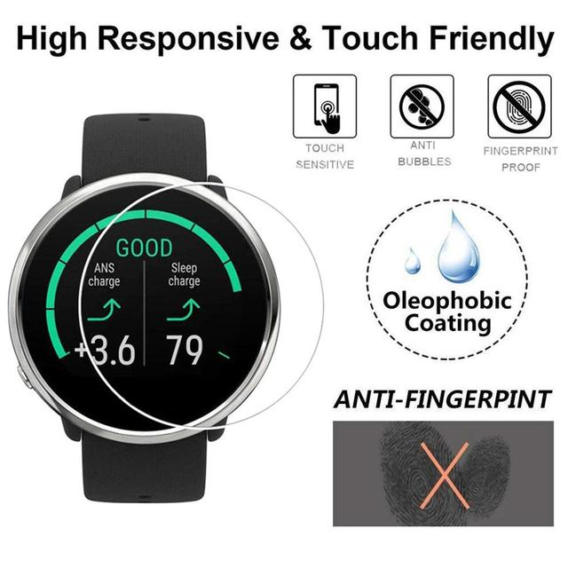 1/3PCS Clear Film Tempered Glass Screen Protector for Polar IGNITE Smart Watch Wristband Wearable Protective accessories #810