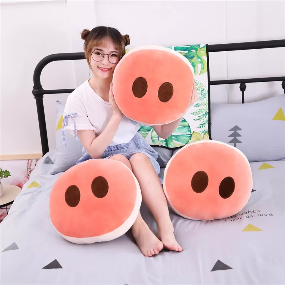 New Creative Pig Nose Pillow Plush Toys Cute Nostril Doll Stuffed Home Office Seat Cushion Gift