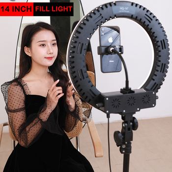 Beauty Selfie Ring Fill Light 14inch Dimmable Camera Phone Ring Lamp 3 color beauty brightening fill light For Makeup Video Live