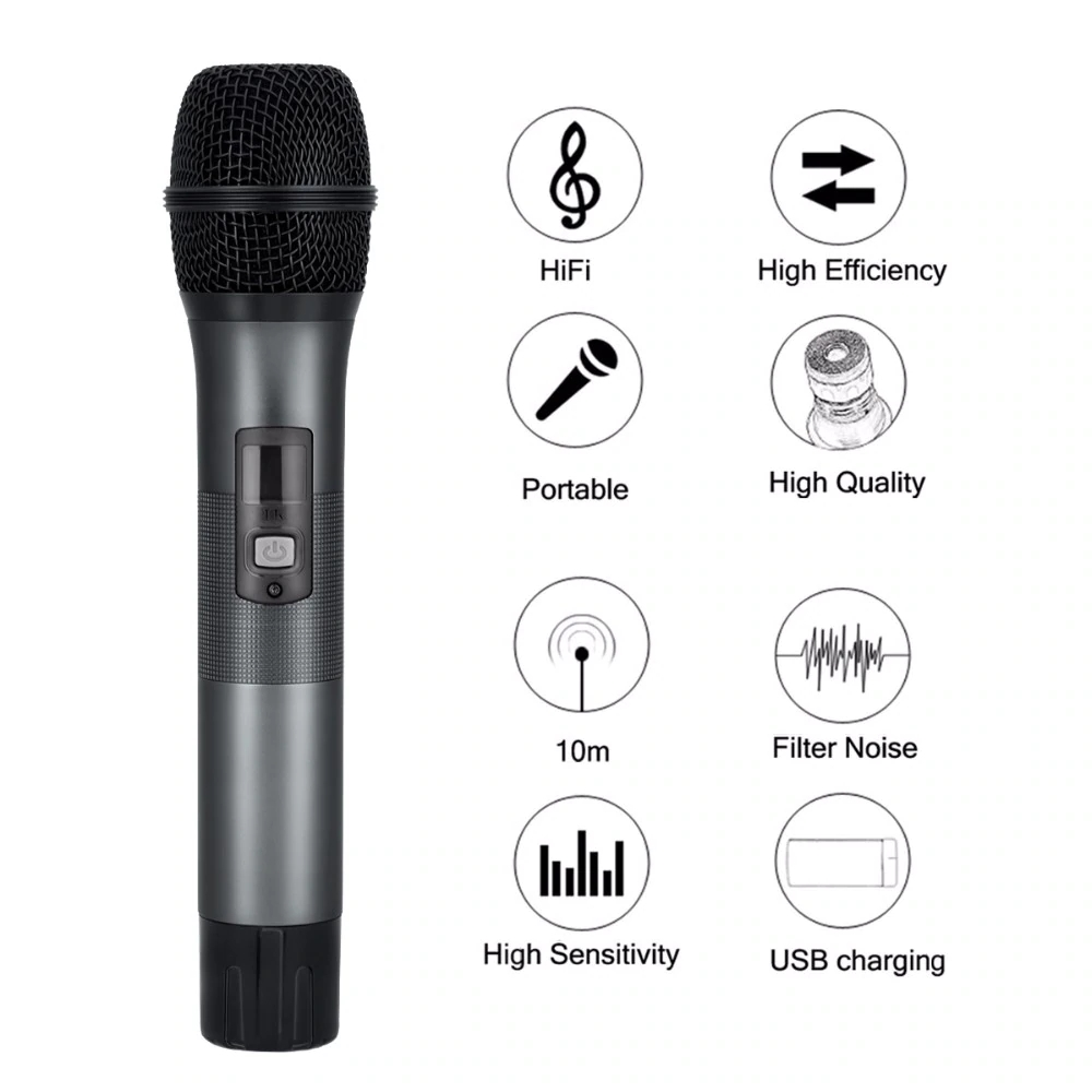 Excelvan Micro K28 Wireless Dual Channel Microphone Adjustable Echo Volume Digital Low Distortion For Home Entertainment Conference (4)