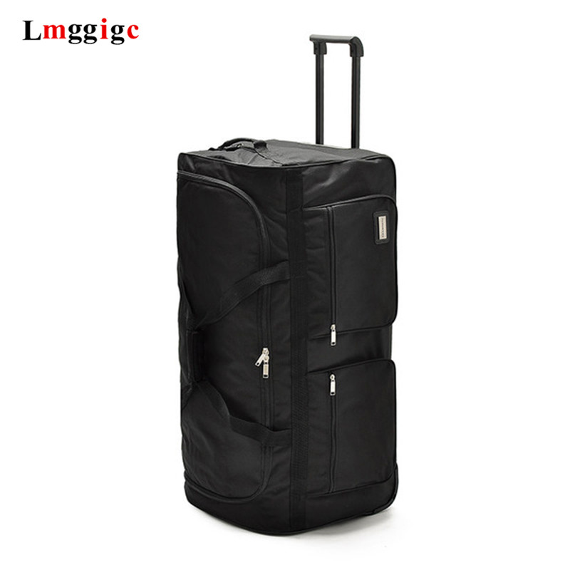 Wheels Trolley Oxford Student Checked Bag,Ultralight Rolling Luggage 32/40 Inch Large Capacity Travel Bag Suitcase,fashion Box
