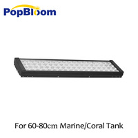 24 36 48 60 72 Smart Marine Aquarium LED Lighting Coral Reef Saltwater Lamp Aqua Tank Programmable Timer Sunrise Dimmable
