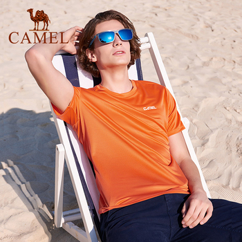 CAMEL Men's Sports T-shirts For Man Outdoor Breathable Running T-shirt Men Summer Clothing Short Sleeved Shirt For Male male t shirt puma 57499701 sports and entertainment for men sport clothes