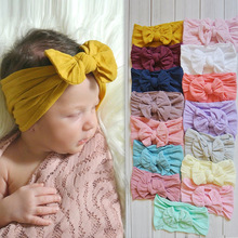 Bowknot Elastic Turban Baby Girl Hair Accessories Kids Headband for Children Hair Bands