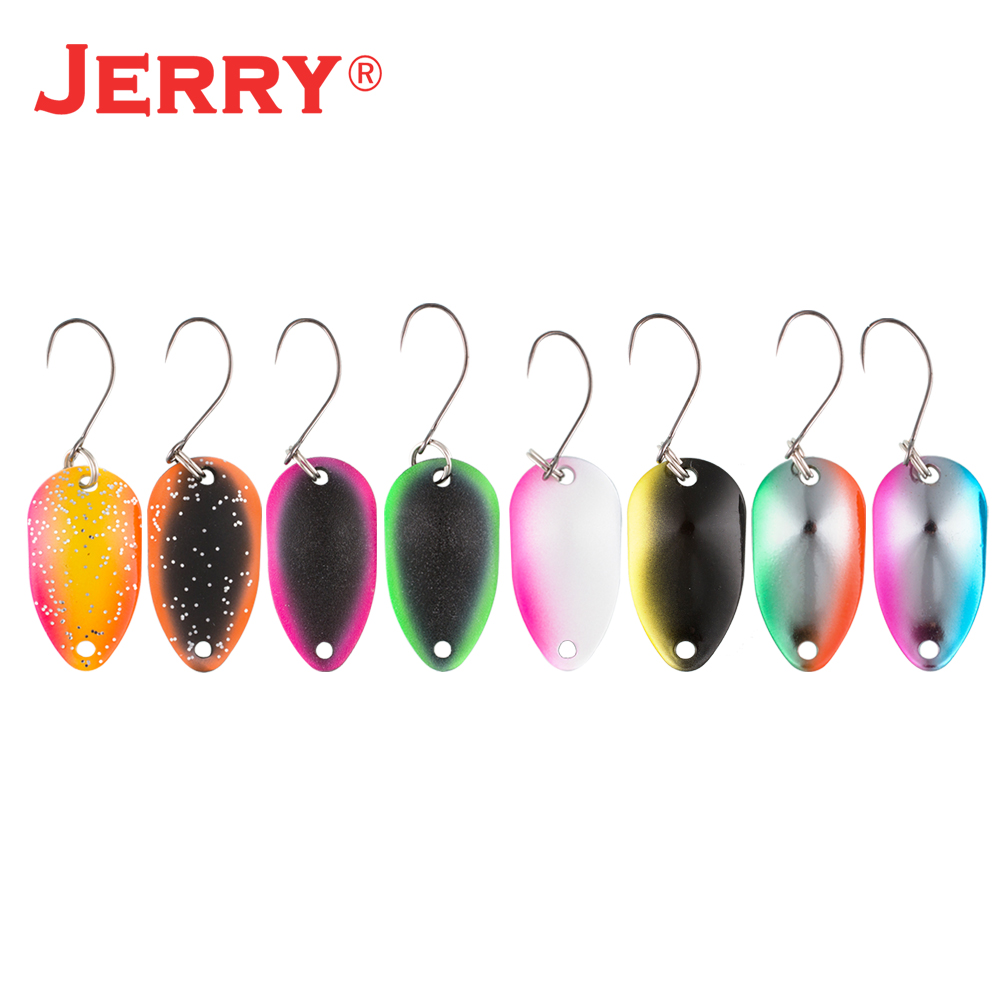 Jerry Gemini multiple colours micro fishing lures kit spoons trout spoon wobbler spinner bait(China)