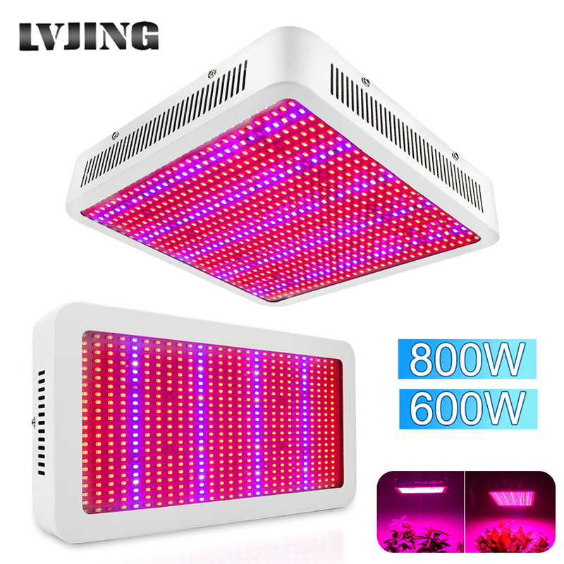 LVJING Full Spectrum Led Grow Light 600W 800W Led Fitolampy For Plants Growth Lamp Hydroponics Indoor Greenhouse Vegs Plant Tent