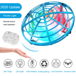 Mini LED Drone UFO Remote Control Hand Operated Levitation RC Helicopter Anti-collision Induction Toy Drone Gift For Children