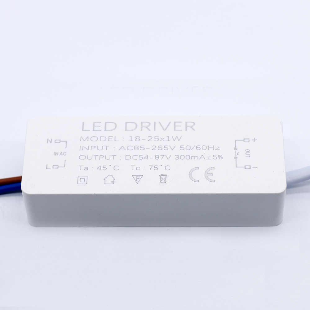 Sterownik LED 300mA 1-3W 3-5W 4-7W 8-12W 12 -18W 18-25W 25-36W LED zasilacz 350mA AC90-265V transformatory oświetleniowe do diody led