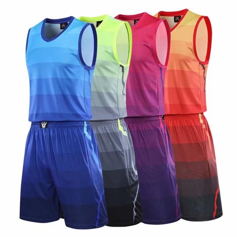 Shorts para Mulheres dos Homens sem Mangas Uniforme da Equipe de Basquete Fato de Treino Branco Basketball Jersey Treino Sportswear Personalizado & Mod. 175414