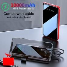 10000mAh Portable Mini Power Bank Mirror Screen Digital Disp