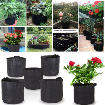 1-10 gallon Plant Grow Bag Home Garden Plant Growing Seedling Fabric Pot Grow Fruit Seeds Plants Gardening Tools image