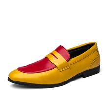 Fashion Mixed Colors Slip-on Men Leather Shoes Comfortable Big Size Loafers Street Trendy Youth Moccasins Penny Loafers for Male