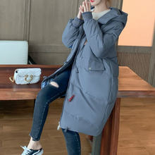 Женская зимняя длинная куртка стеганые куртки теплые однотонные