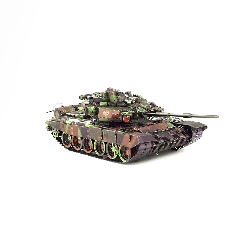 Piececool Metal Puzzle Glue-free DIY Assembled Model 3D Russia T90 Tank Color Version