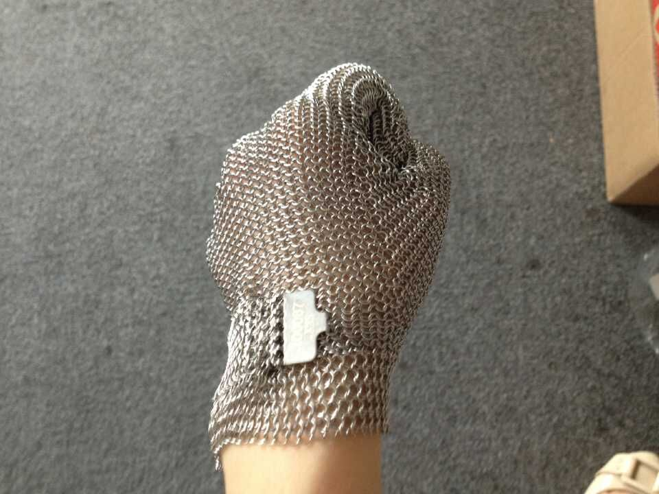 All Stainless Steel No Fabric - Chainmail Mesh Butcher Glove - Sizes XXS To XL