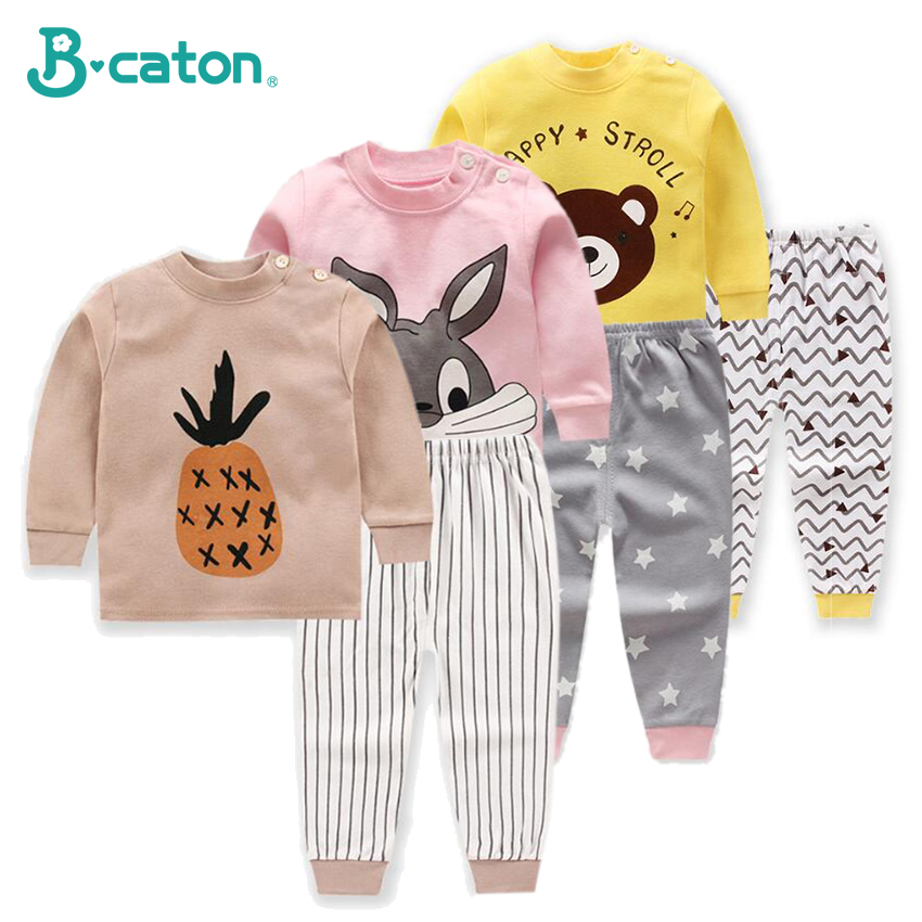 Baby Clothes Girl And Boy Clothes 2019 New Cotton Underwear Trousers Soft Breathable Leisure Wear Long Sleeves Lovely Pattern