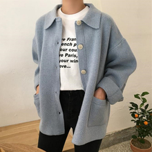 Harajuku Kawaii Yellow Cardigan Femme All-match Pockets Buttons Korean Sweater Women Loose Long Sleeve Knitted Cardigan Winter цены онлайн