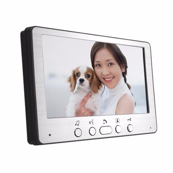 smartyiba 7 inch color display work for video intercom speakerphone system lcd tft hand free indoor monitor unit support unlock 7 inch TFT LCD Video Door Phone Visual Video Intercom Speakerphone Intercom System +2 Monitor +1 Waterproof Outdoor IR Camera