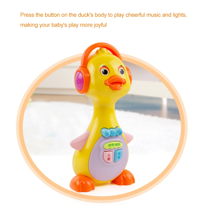 NEW Duck Lights Action Musical Toys Kids Music Toys With Sound For Girls Boys Early Education 1PC