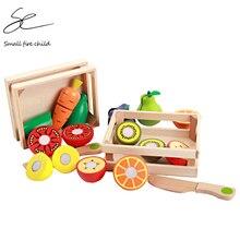 Новые детские игрушки, развивающие режущие фрукты/овощи, набор деревянных игр, еда, кухонные игрушки, детский игровой домик, подарок на день рождения