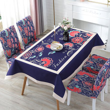 цена на Print Decorative Waterproof Linen Tablecloth Waterproof Thick Rectangular Tablecloth Wedding Dining Table Cover Tea Table Cloth