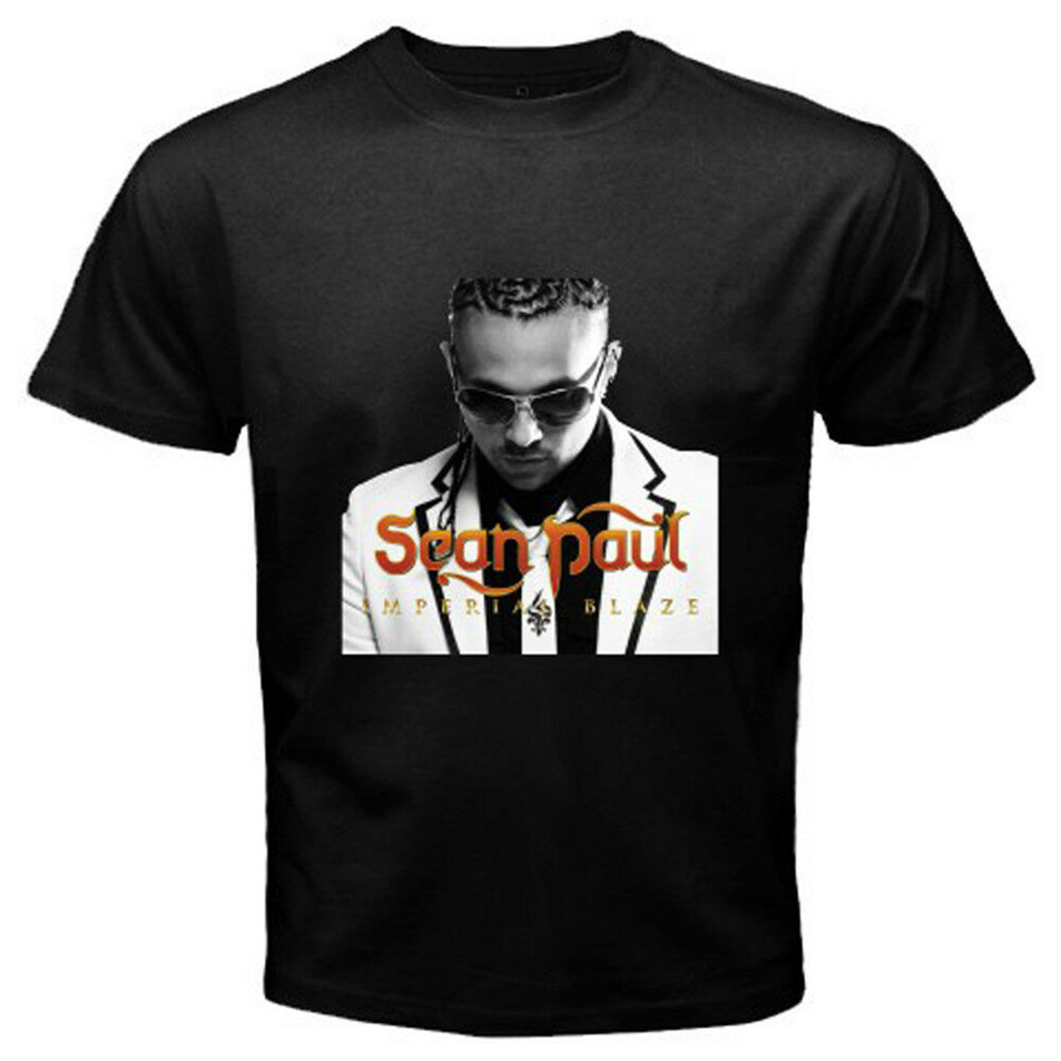 New <font><b>Sean</b></font> Paul Reggae Hip Hop Album Music Men'S Black <font><b>T</b></font>-<font><b>Shirt</b></font> Size S To 3Xl Slim Fit Tee <font><b>Shirt</b></font> image