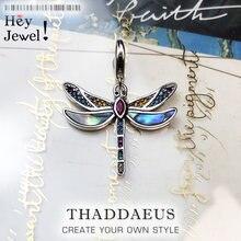 Breloque libellule colorée en argent Sterling 2019 pour femmes, bijoux bohémiens à la mode, pendentif voyage au paradis, collier 925, idéal pour Bracelet