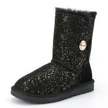 «Женские кожаные ботинки для сохранения тепла и комфорта меховые