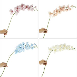 Image 5 - 1PC Artificial Phalaenopsis Flower Silk Butterfly Orchid Branch Artificial Flowers for Wedding Backyard Living Room Decoration