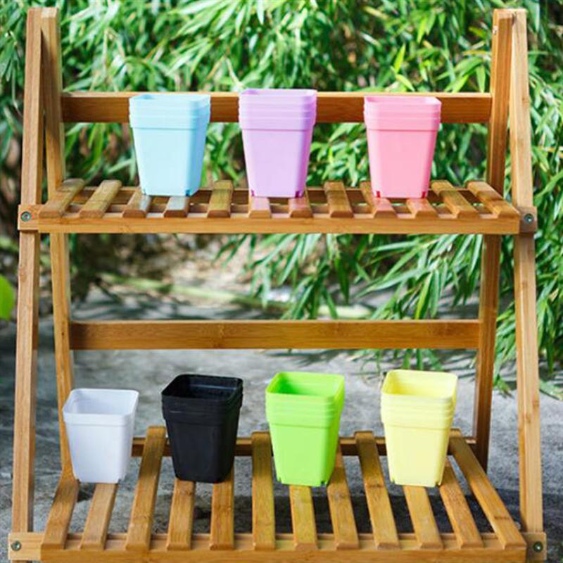 10 PcsPlant Pots Garden Nursery Plastic Flower Pot Containers Small Outdoor