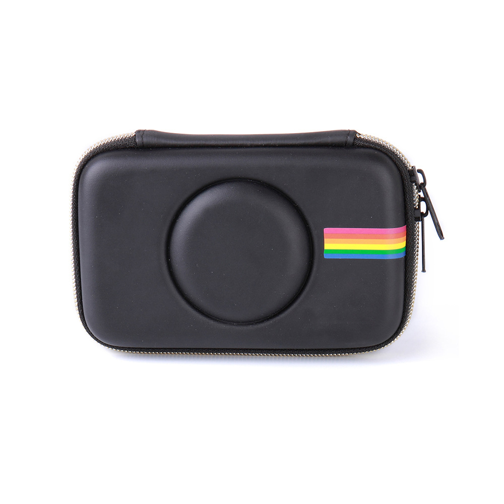Colorful High Quality PU Leather Bag Camera Retro Protective Case Cover For Polaroid Snap Touch Model Cameras(only case) black