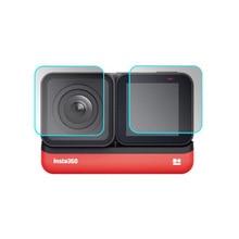 Funda protectora de vidrio templado para GoPro Go pro Hero5 Hero6 Hero7 Hero 5/6/7 Cámara negra película de protección de pantalla LCD de lente