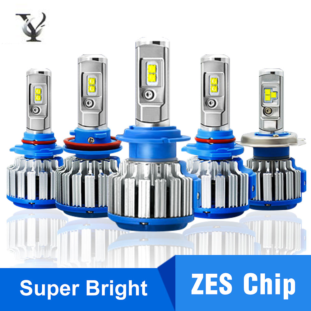 Super Bright <font><b>Led</b></font> Headlight H7 H4 ZES Chips Turbo <font><b>Canbus</b></font> H1 <font><b>H3</b></font> H8 H11 9005 9006 9012 880 Hi-Lo Beam Car Lamp Kit 12v 6000k image