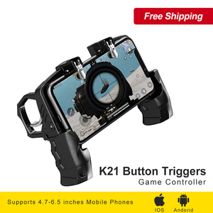 Image 1 - K21 Button Triggers Equipment For Cell Phone Dzhostik for PUBG Mobile Joystick Gamepad Game Controller For iPhone Android Gaming