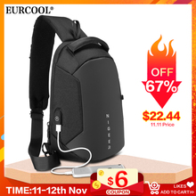 Crossbody-Bags Short Water-Repellent Messengers Trip Male Men N1825 Usb-Charging Multifunction