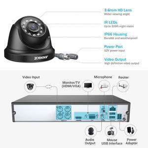 Image 3 - ANNKE 4CH H.265 + 5MP Lite Sistema CCTV DVR 4pcs 2.0MP Visione Notturna di IR di Sicurezza Della Cupola di Telecamere 1080P video di Sorveglianza Kit