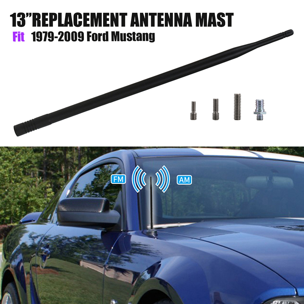 TAKPART Black Antenna Aerial for 1979-2009 Ford Mustang