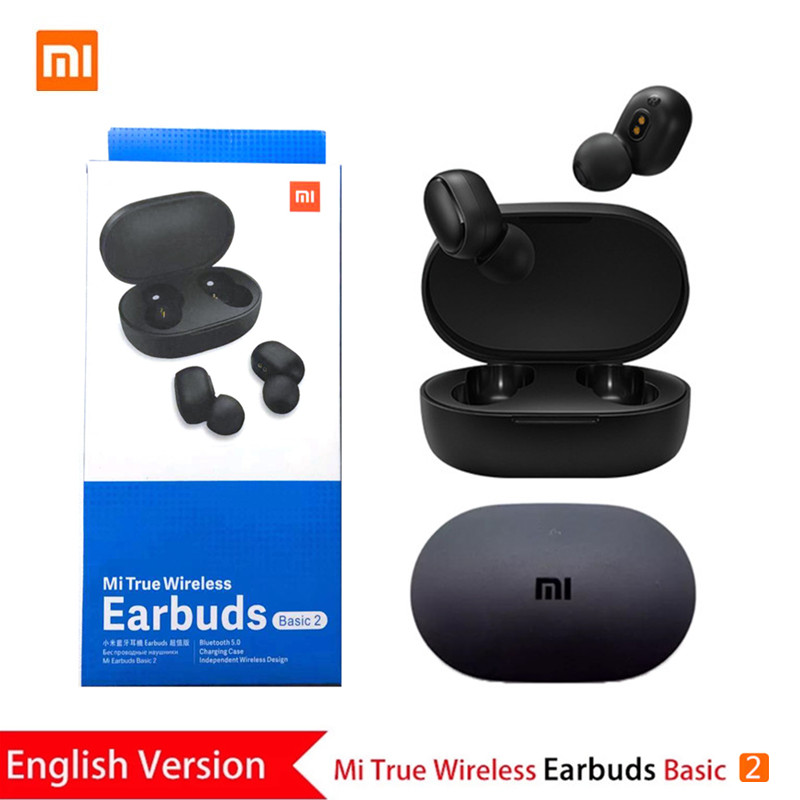 Redmi AirDots EN Version 5.0 Bluetooth Headset Xiaomi Global Version Basic 2 Wireless Stereo Earbuds with Microphone AI Control