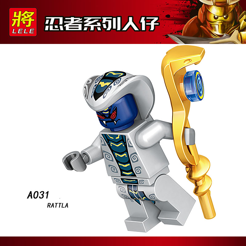 Single Sale Compatible LegoINGlys Ninja Mini Fgure CHOP RAI SKALES SKALIDOR ACIDICUS PYTHOR Bricks Blocks Action Toys Baby Gifts