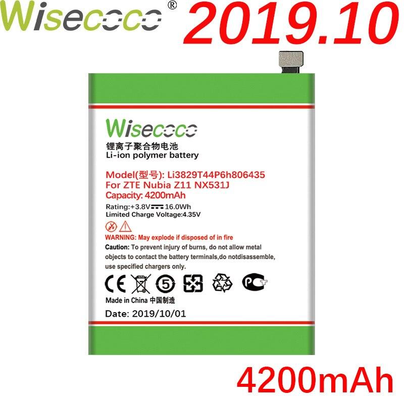 WISECOCO 4200mAh Li3829T44P6h806435 batterie pour ZTE Nubia Z11 NX531J M2 lite téléphone dernière batterie de Production + numéro de suivi