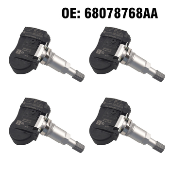 4 PCS Car TPMS4 PCS Car TPMS Tire Pressure Monitoring Sensor 68078768AA 56053031AD for Chrysler 300 Sebring Dodge Jeep Compass