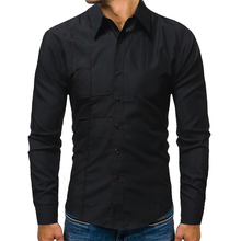Mens Long Sleeve Shirt Dress Up