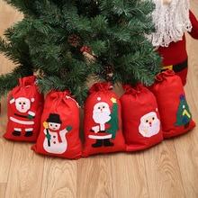 Bags Drawstring-Bag Kids Women Small Man Big Gift Christmas-Gift Party Santa-Claus New-Year